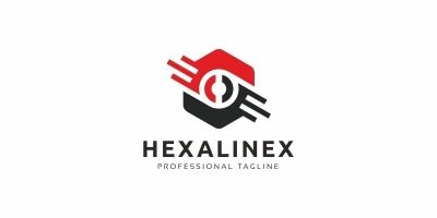 Hexagon Line Logo