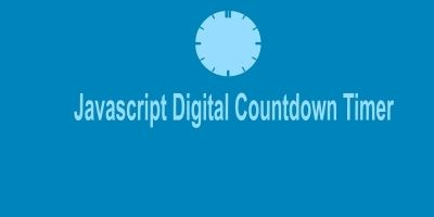 JS Digital Countdown Timer