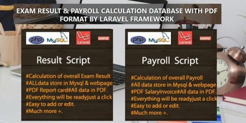 Result and Payslip PHP Scripts With Database