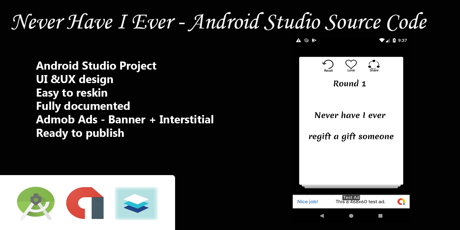 Never Have I Ever - Android Studio Source Code