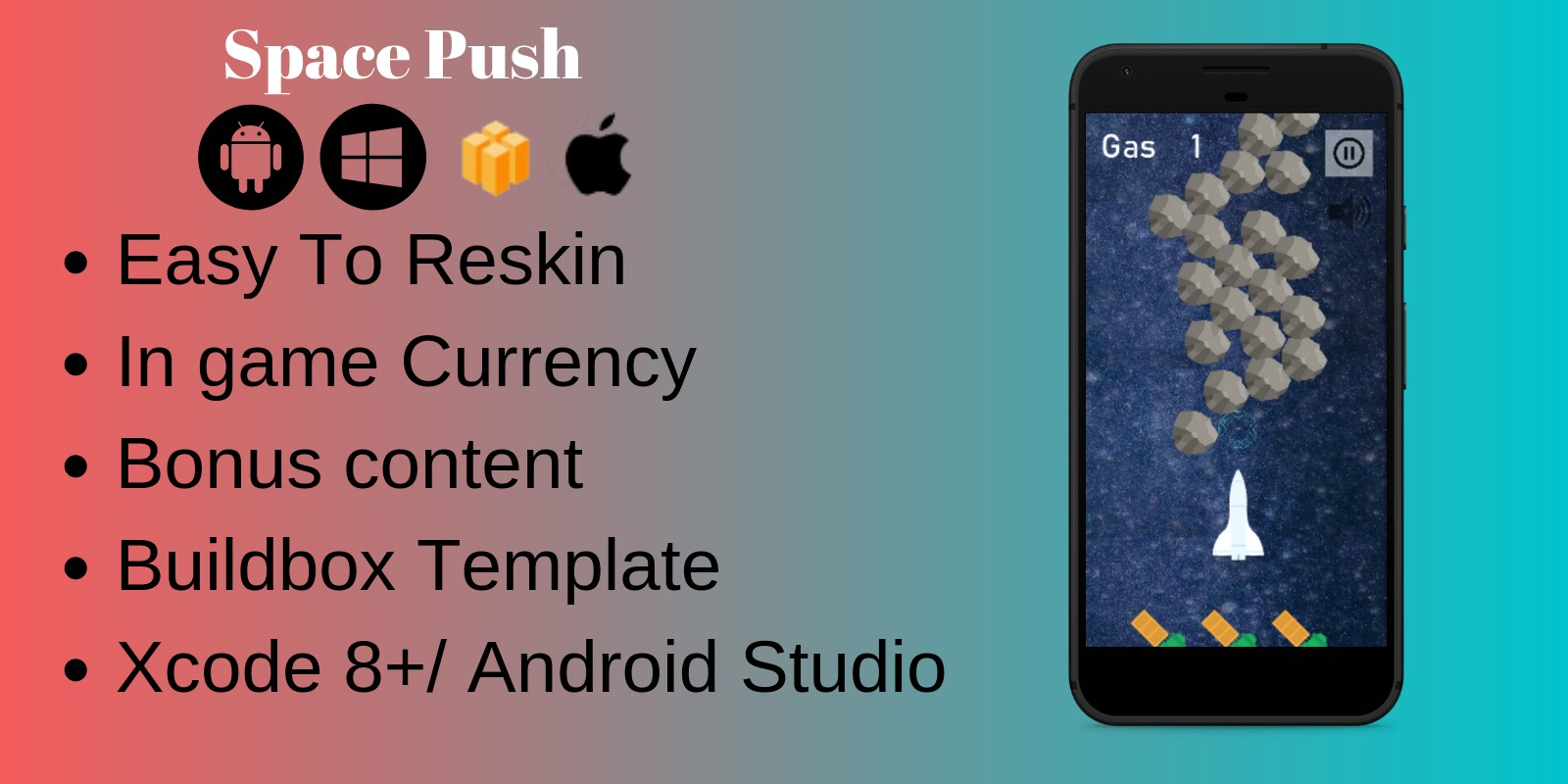 Space Push - Buildbox Template