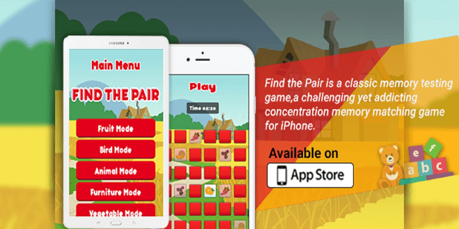 Find The Pairs - iOS Source Code