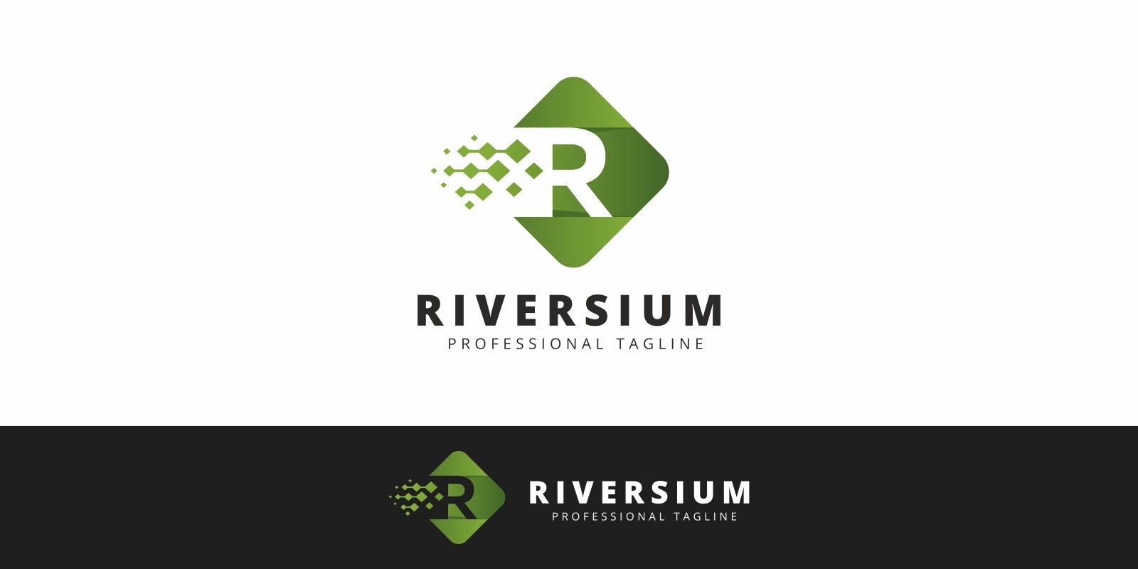 Riversium R Letter Logo