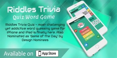 Riddles Trivia - Quiz Word Game iOS Source Code