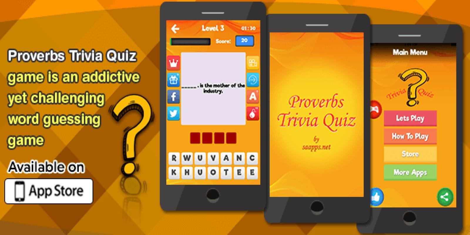 Proverbs Trivia Quiz - iOS Source Code