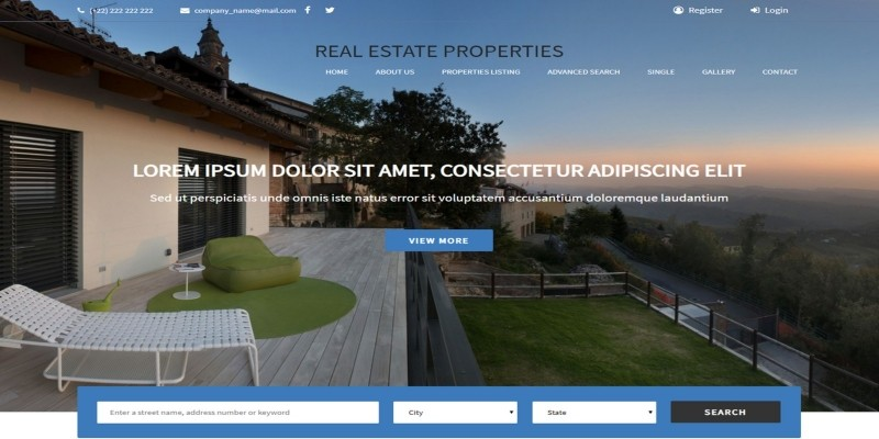 Real Estate Template HTML Template