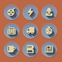 755 Retro 3D Web Communication Icons Set