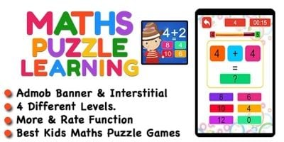 Maths Puzzle Learning Game For iOS