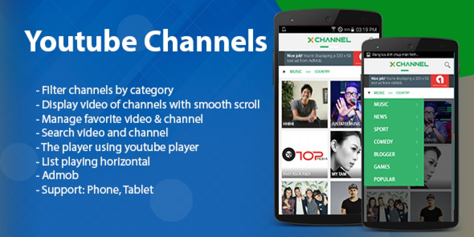 Youtube Channels - Android App Template