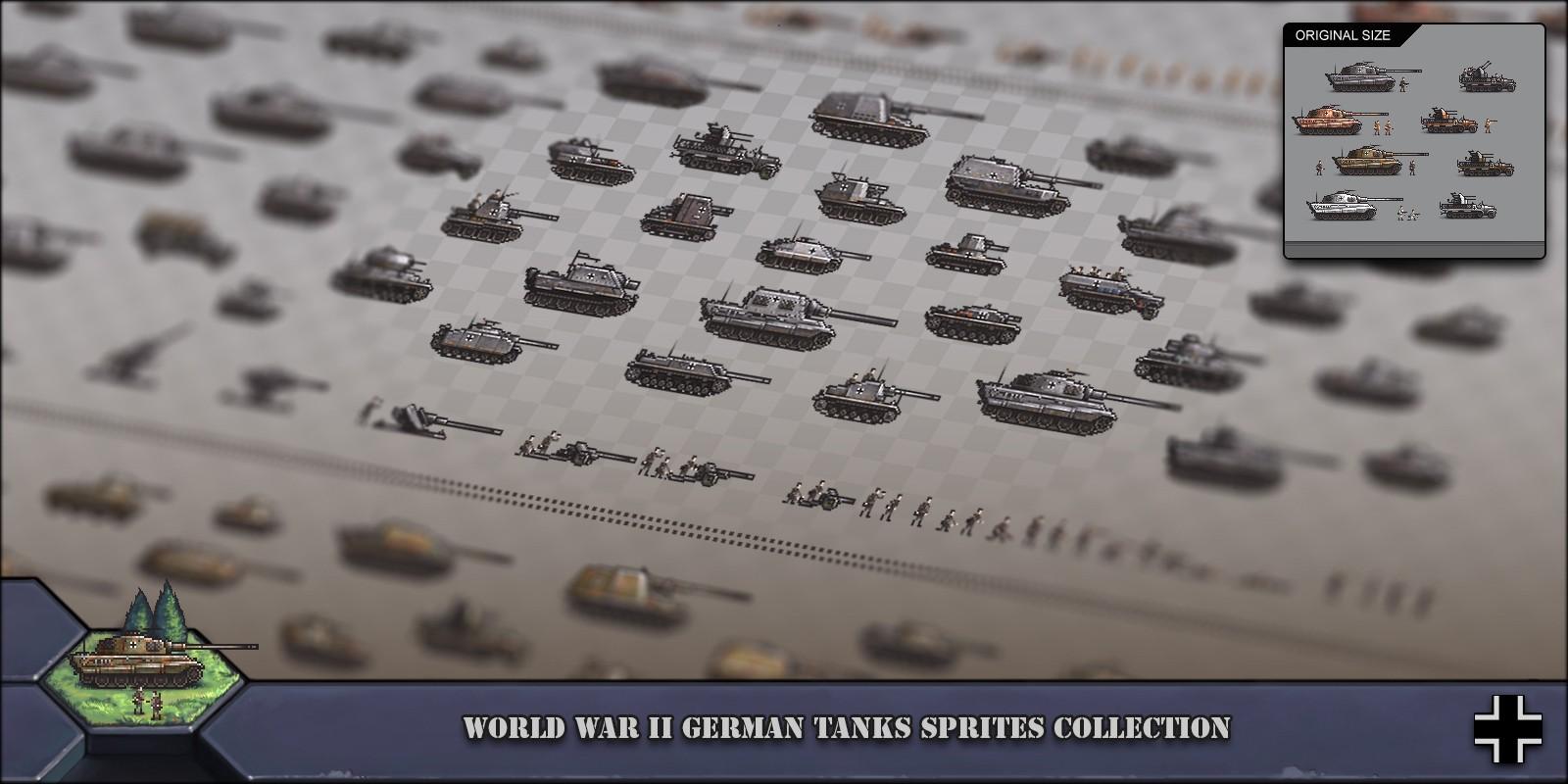World War 2 German Tanks Sprites Collection