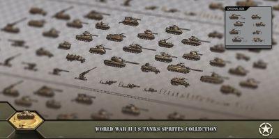 World War 2 US Tanks Sprites Collection