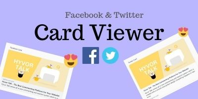 Facebook And Twitter Card Viewer - PHP Script