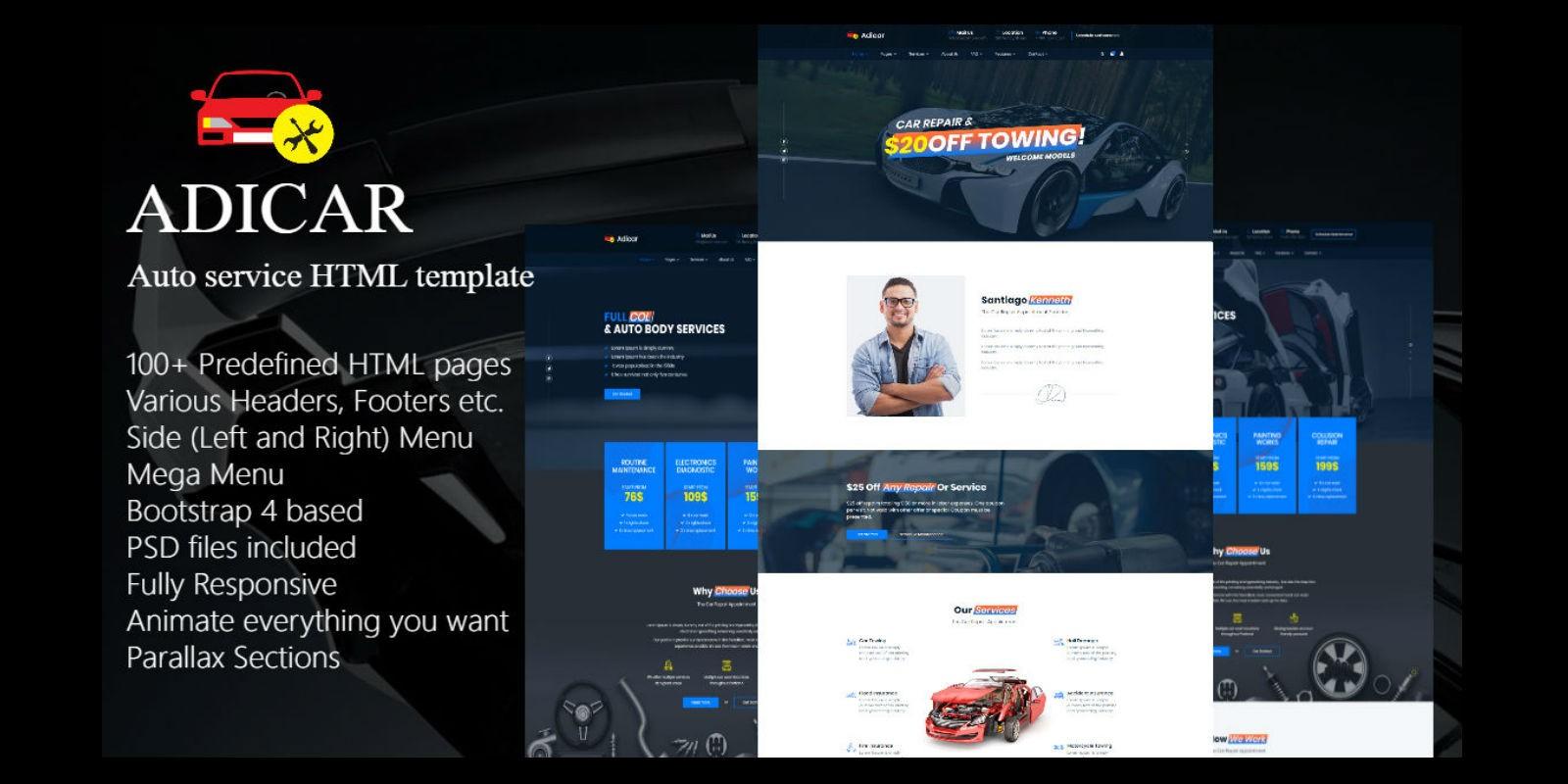 AdiCar - Auto Service HTML Template