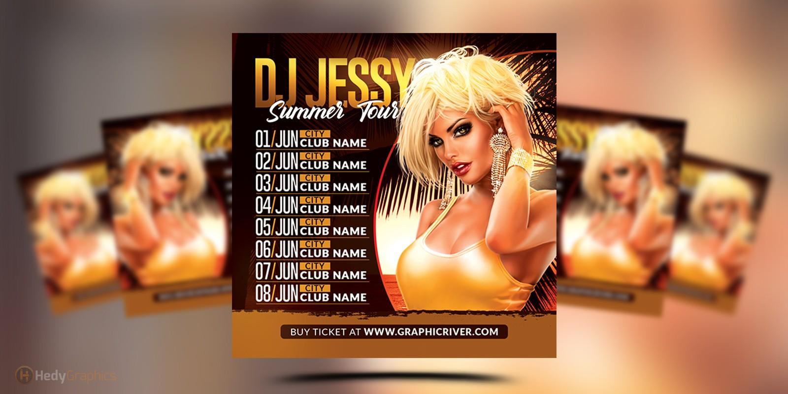 Dj Tour Dates Flyer
