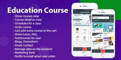 Education Course - Android Template With Backend