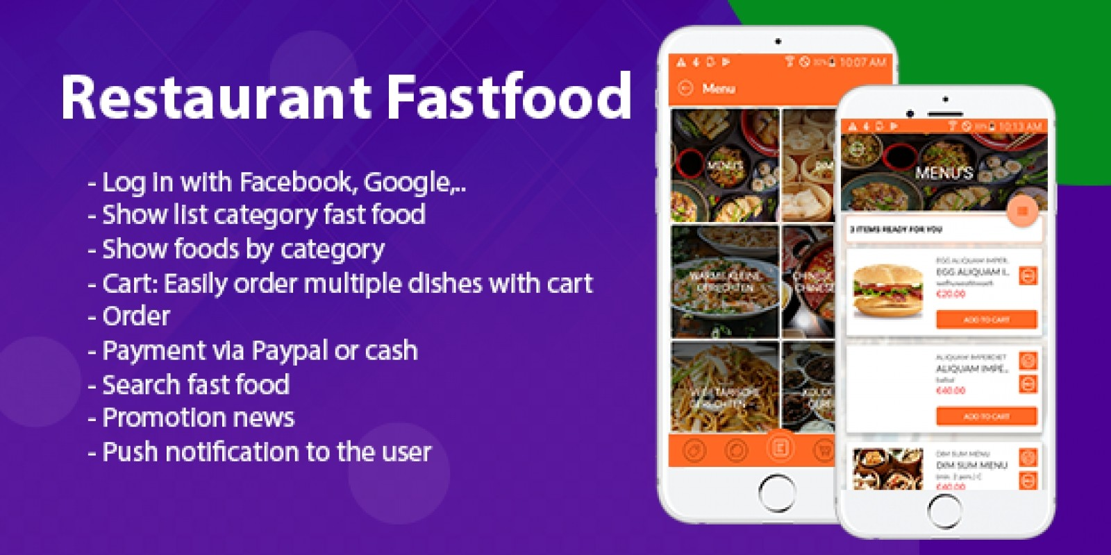 Restaurant Fastfood - Android App Source Code