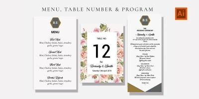 Elegant Wedding Preparation Cards