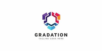 Gradation Hexagon Logo