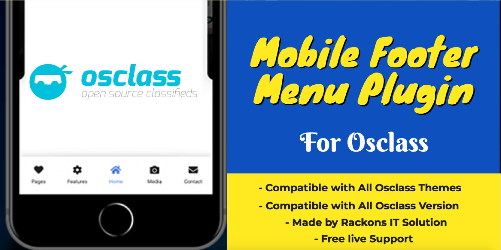 Mobile Footer Menu Plugin For Osclass