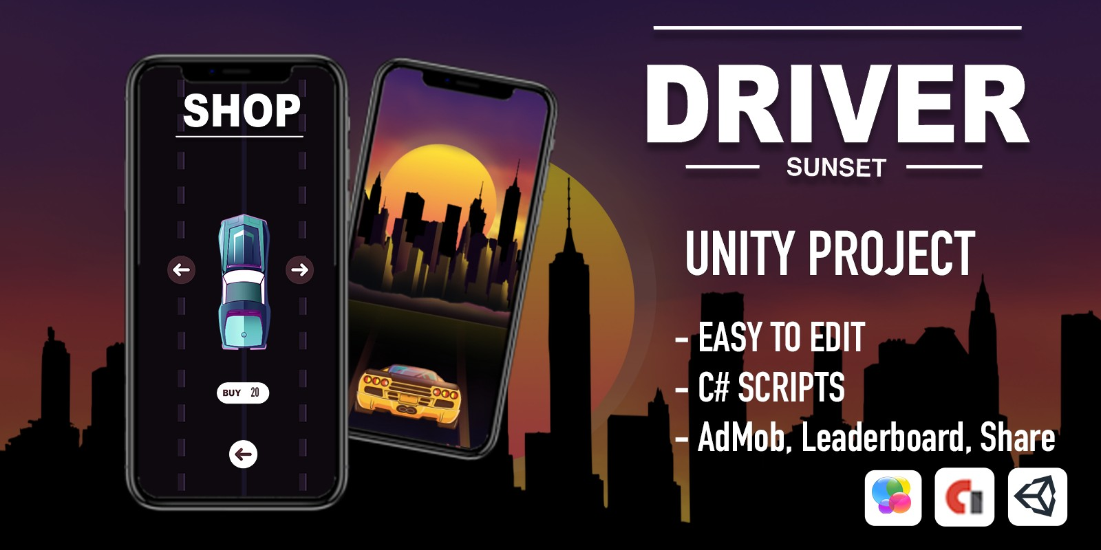 Sunset Driver - Unity Project