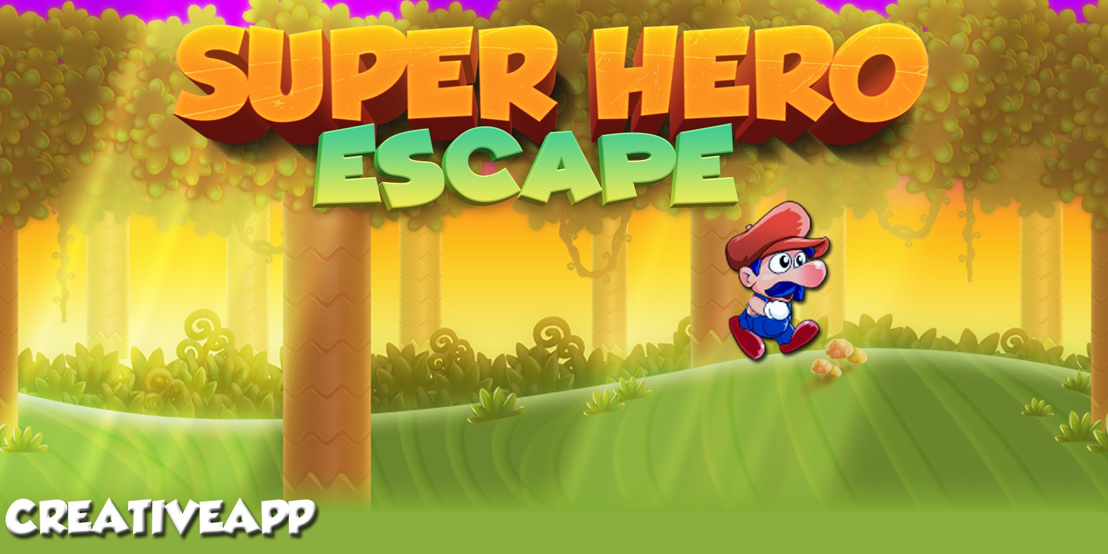 Super Hero Escape - Buildbox Template