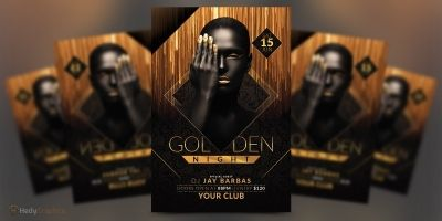 Golden Night - Party Flyer