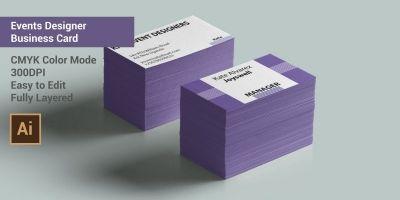 Events Designer Business Card