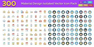 300 Building Vector Icons Pack