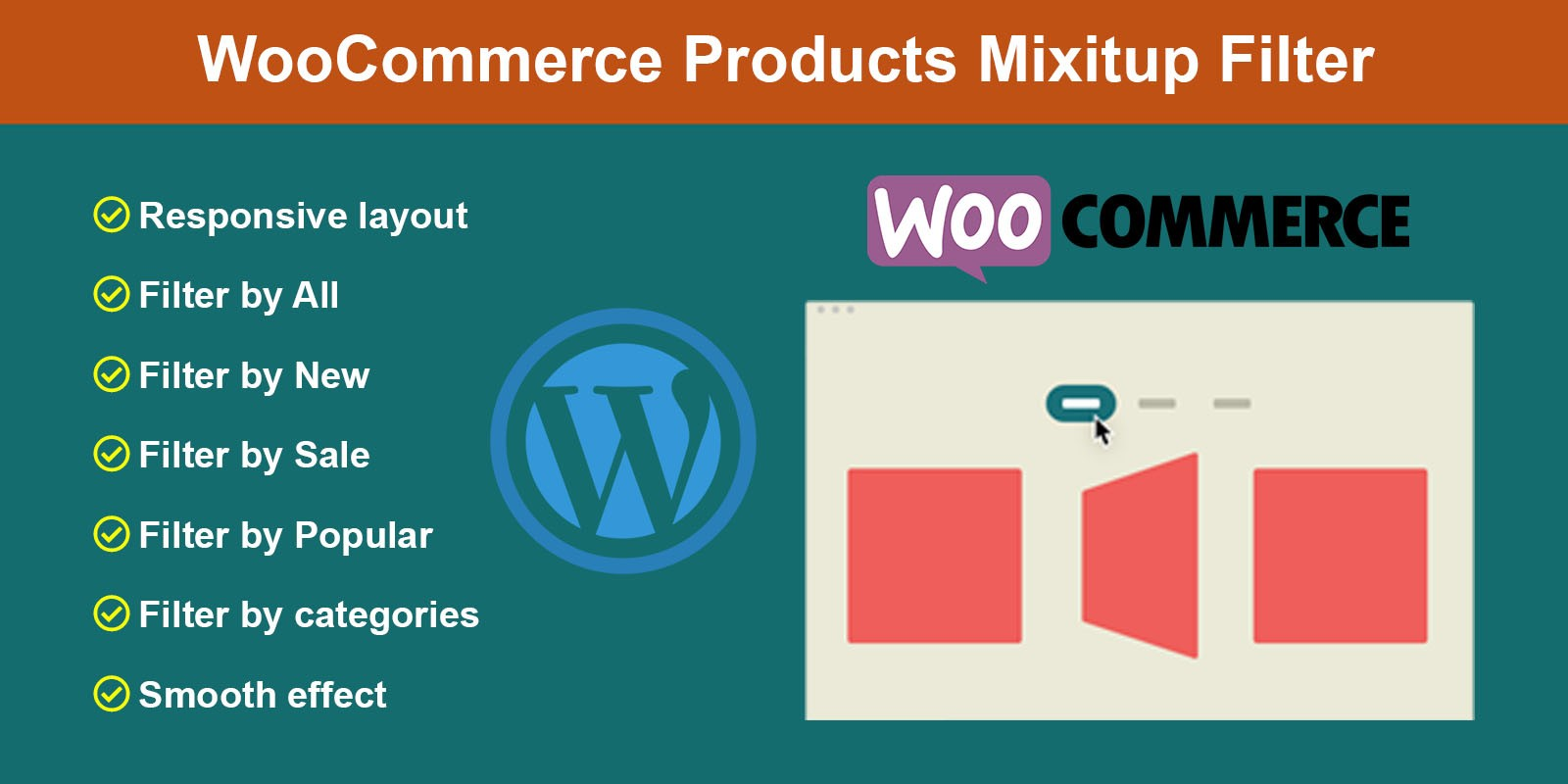 WooCommerce Products MixItUp Filter Plugin