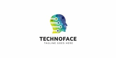 Techno Face Logo