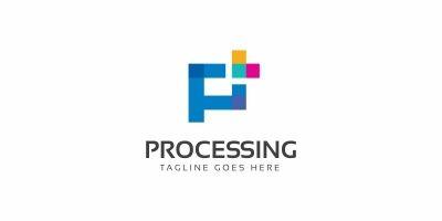 Processing P Letter Logo