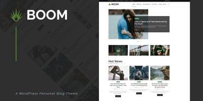 Boom - Creative Personal WordPress Blog Theme