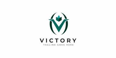 Victory V Letter Logo