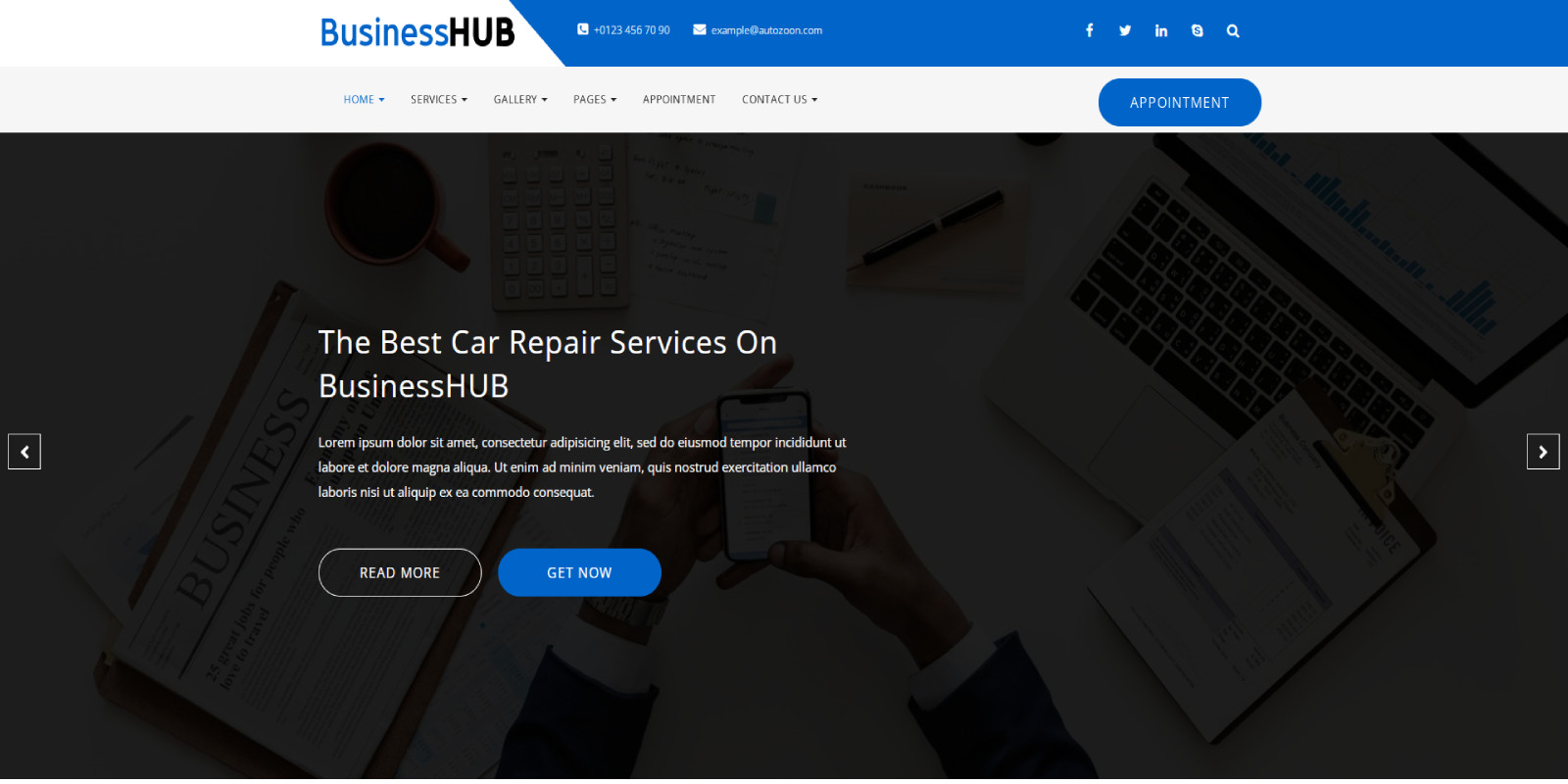 BusinessHUB - Multi-purpose HTML5 Templates