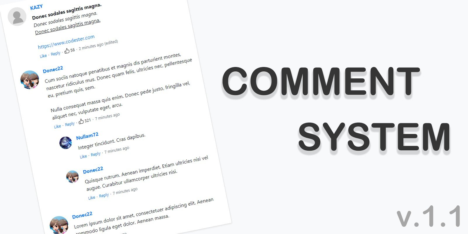 Comment System PHP