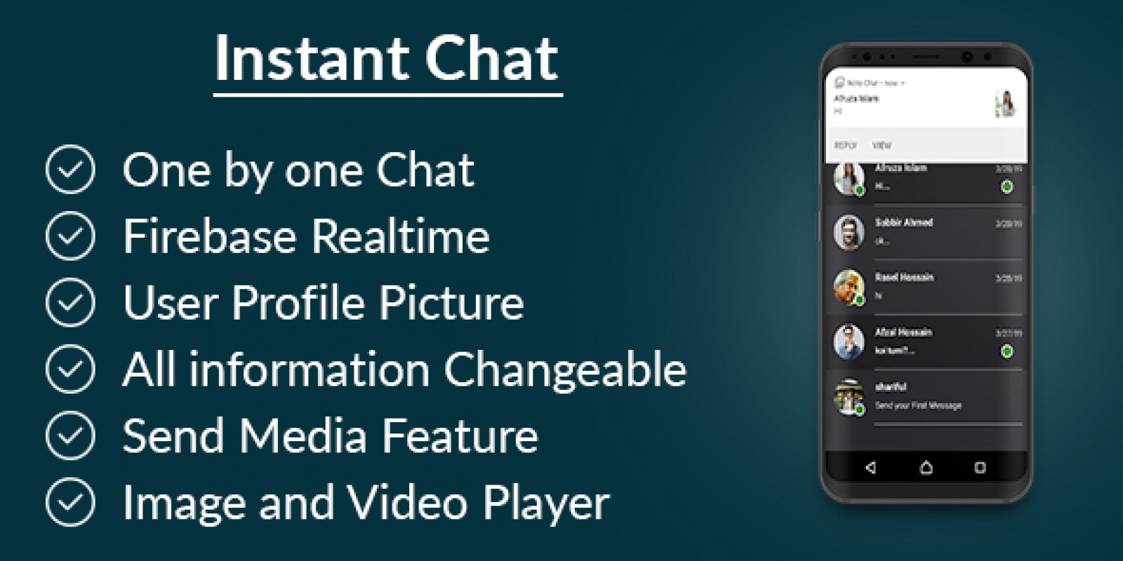 Instant Chat Firebase Android App