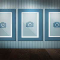 Three Pictures on Wall Mock-Up - 2 PSD Templates