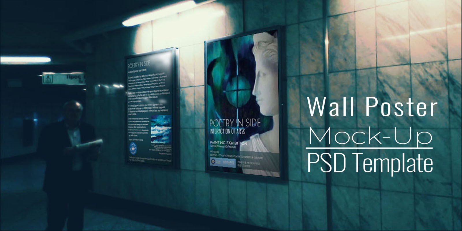 Wall Poster Mock-Up - PSD Template