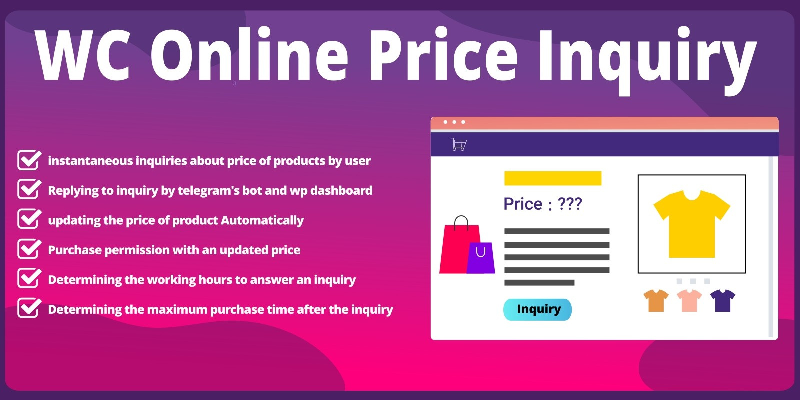 WooCommerce Online Price Inquiry