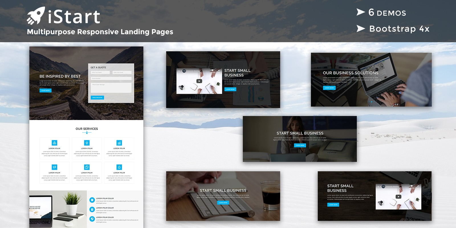iStart - Responsive HTML Landing Pages