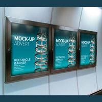 Metro Rectangle Banners Advert Mock-up - PSD