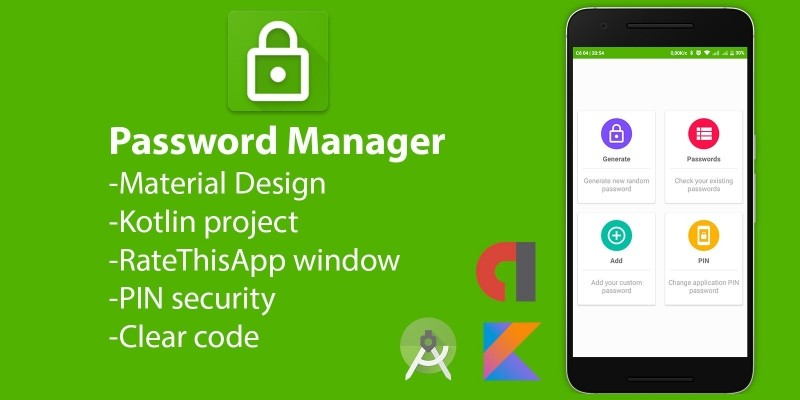 Password Manager - Kotlin Full Project Android