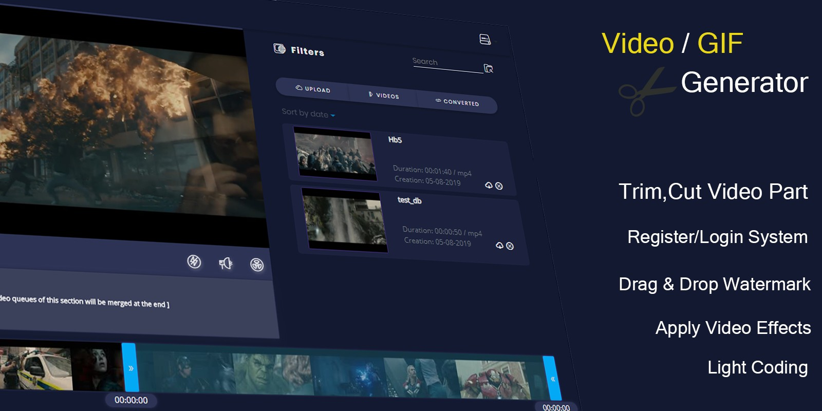 Video And GIF Generator PHP Script