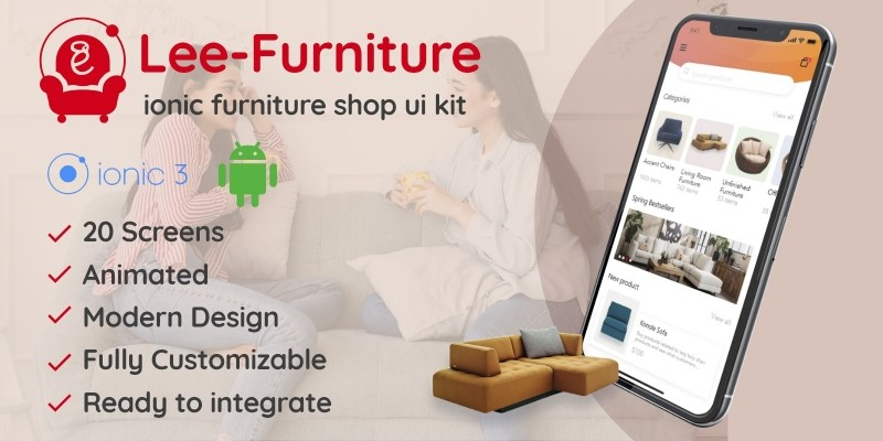 Lee - Ionic Furniture Shop UI Theme