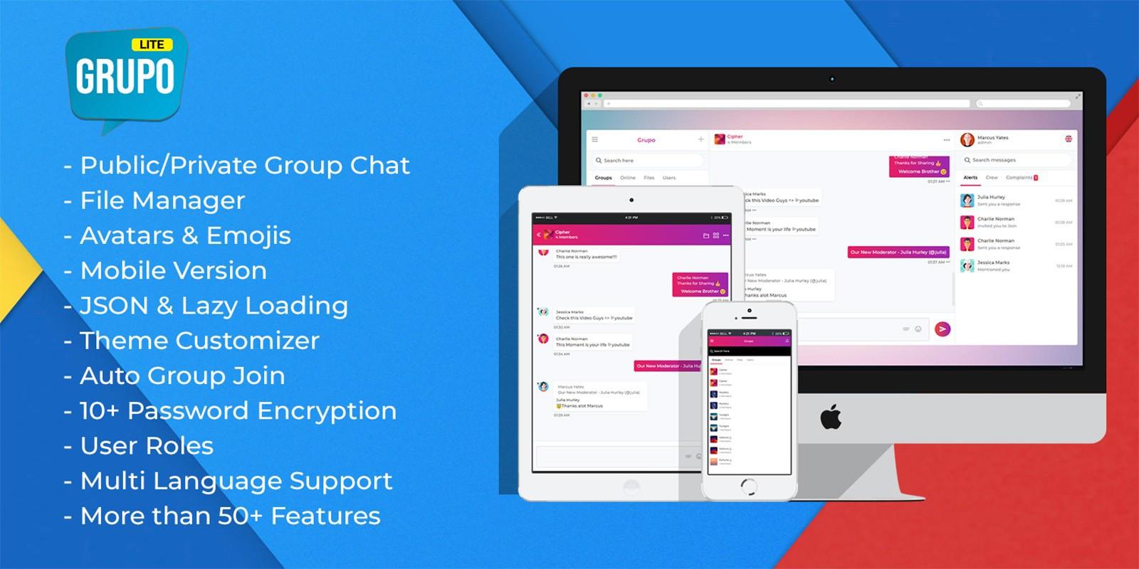 Grupo Lite - Chat Room PHP Script
