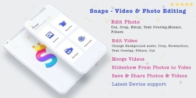 Snaps - Video And Photo Editing iOS