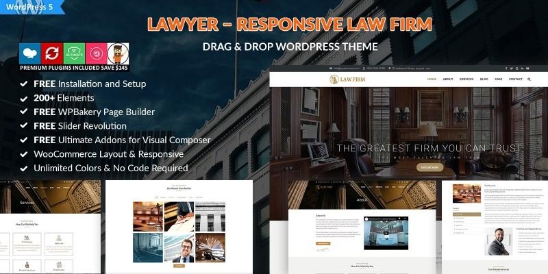 Lawyer - Responsive Law Firm WordPress Theme