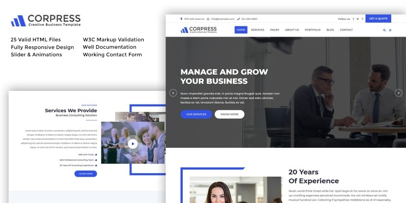 Corpress - Business and Corporate HTML5 Template
