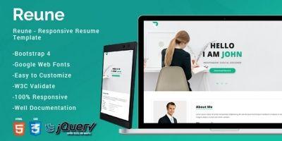Reune - CV Resume Template