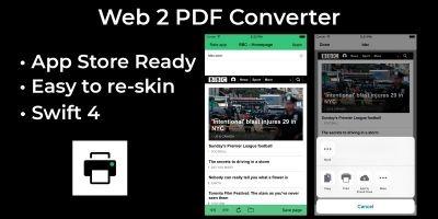 Web2PDF - iOS Source Code